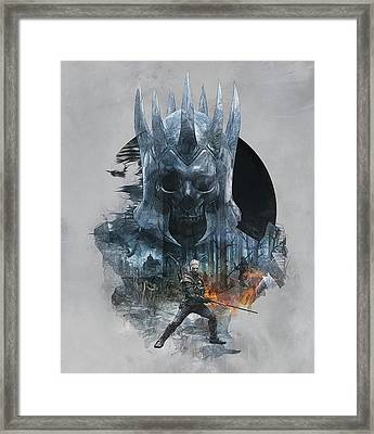The Witcher Framed Print by Lobito Caulimon