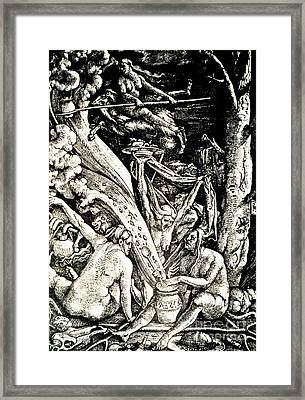 The Witches At The Sabbath Framed Print