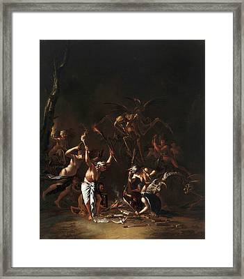 The Witches' Sabbath Framed Print by Salvator Rosa