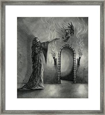 The Witch's Chamber Framed Print by Rebecca Magar