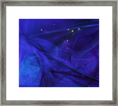 The Wizard Mid-incantation Framed Print by David Lane