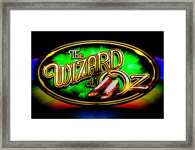 The Wizard Of Oz Casino Sign Framed Print by David Patterson