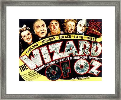 The Wizard Of Oz, Judy Garland, Frank Framed Print by Everett