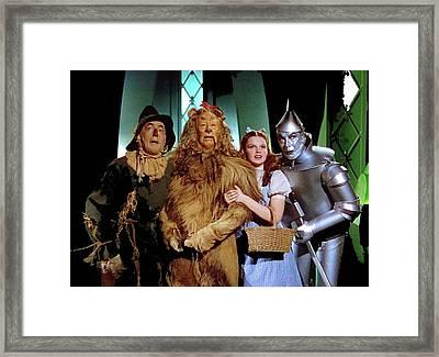 The Wizard Of Oz  Quartet Eric Carpenter Publicity Kodachrome 1939 Framed Print