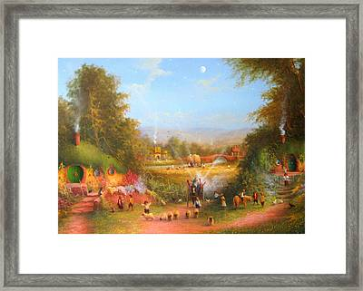 Fireworks In The Shire. Framed Print