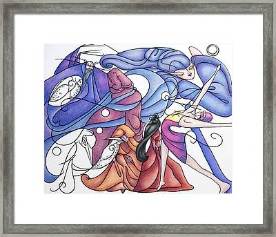 The Wizards Daughter Framed Print by Judy Henninger