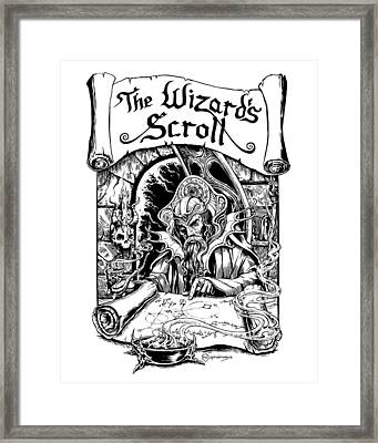 The Wizard's Scroll #1 Framed Print by Michael Clarke