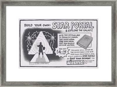Wizbang Star Portal Framed Print