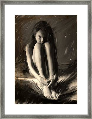 The Wolf Girl Framed Print by H James Hoff