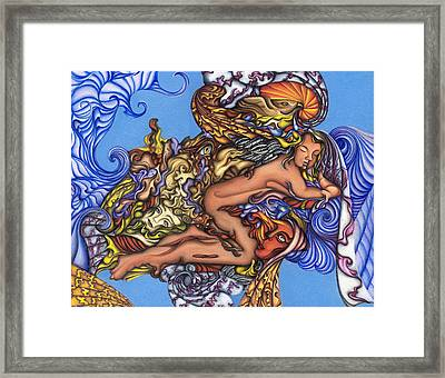 The Wolf Is Always At The Door Framed Print