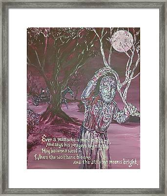 The Wolf Man, 1941 Framed Print
