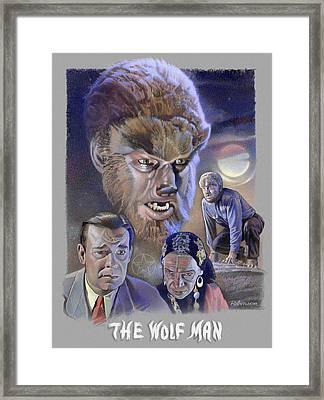 The Wolf Man Framed Print by David Robinson