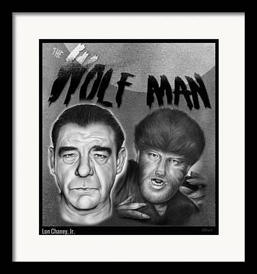 Wolf Man Framed Prints