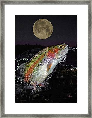 The Wolf Moon Framed Print by Brian Pelkey