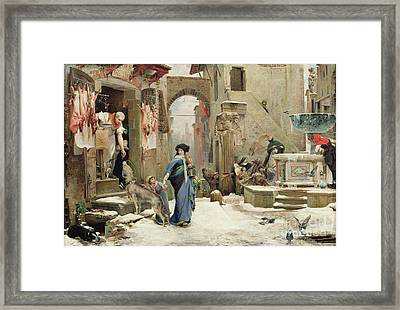 The Wolf Of Gubbio Framed Print by Luc Oliver Merson