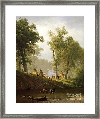 The Wolf River - Kansas Framed Print