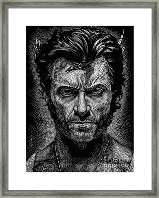 The Wolverine Framed Print by Maria Arango