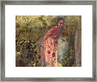 The Woman At His Tomb Framed Print