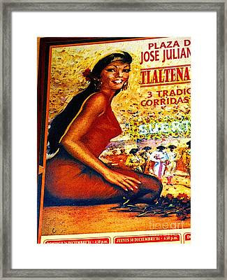 The Woman From Plaza Jose Framed Print by Mexicolors Art Photography