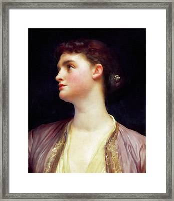 The Woman In Pink  Framed Print