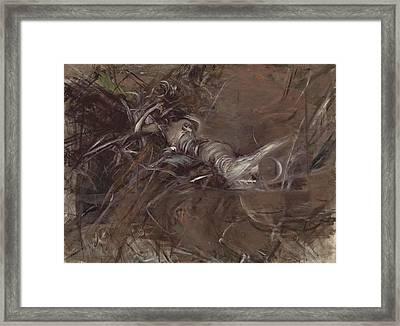 The Woman Lying Figure Framed Print