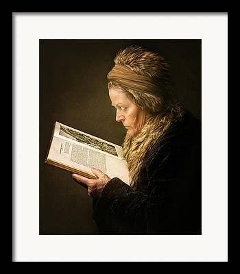 Bible Reading Framed Prints