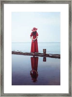 the woman with the Wellies Framed Print by Joana Kruse