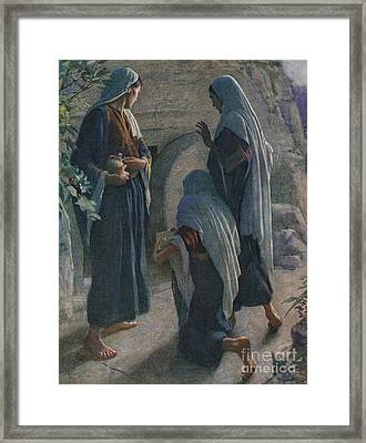 The Women At The Sepulchre Framed Print by Harold Copping