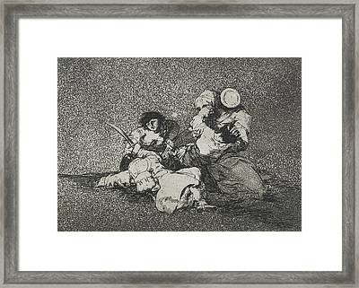The Women Give Courage From The Series The Disasters Of War Framed Print by Francisco Goya