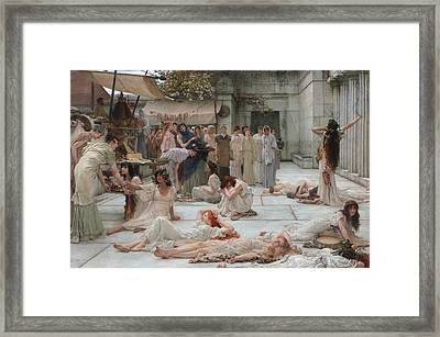 The Women Of Amphissa Framed Print by Mountain Dreams