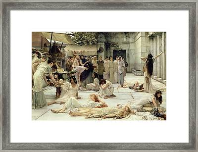 The Women Of Amphissa Framed Print by Sir Lawrence Alma-Tadema