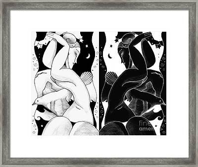 The Women Of Modigliani Framed Print by Helena Tiainen