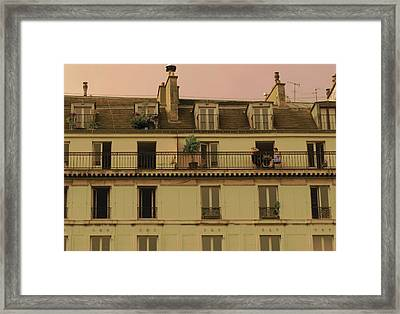The Women On The Balcony Framed Print by Louise Fahy
