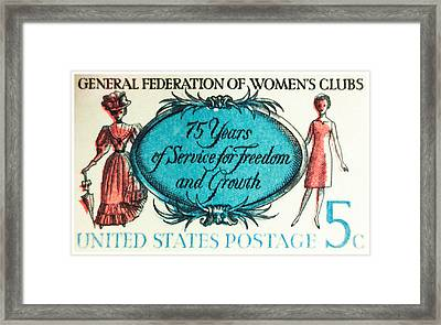 The Women's Clubs Stamp Framed Print
