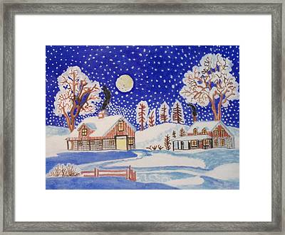 Framed Print featuring the painting The Wonder Of Winter by Connie Valasco