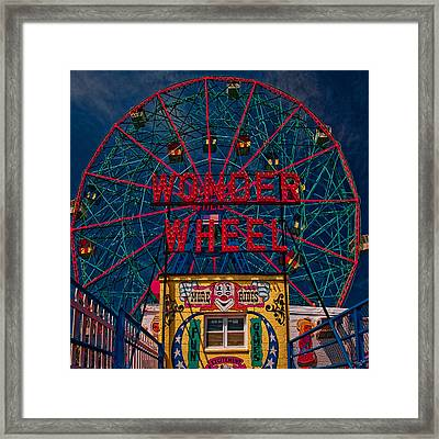 The Wonder Wheel At Luna Park Framed Print