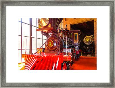 The Wonderful C.p. Huntington Train Framed Print