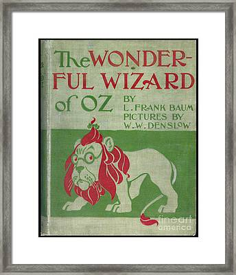 The Wonderful Wizard Of Oz First Edition Framed Print