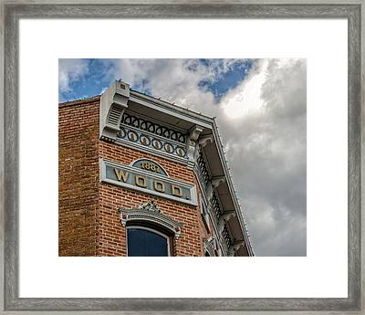 The Wood Building 1887 Framed Print