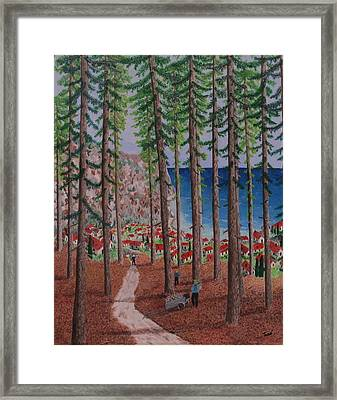 The Wood Collectors Framed Print