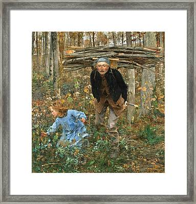 The Wood Gatherer Framed Print