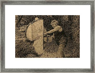 The Woodcutter Framed Print