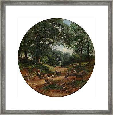 The Woodcutters Framed Print