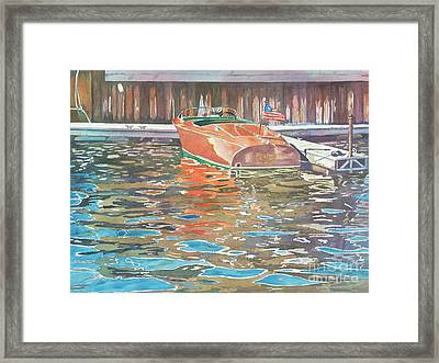 The Wooden Boat Framed Print