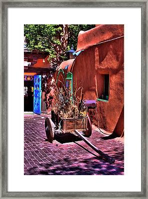 The Wooden Cart Framed Print
