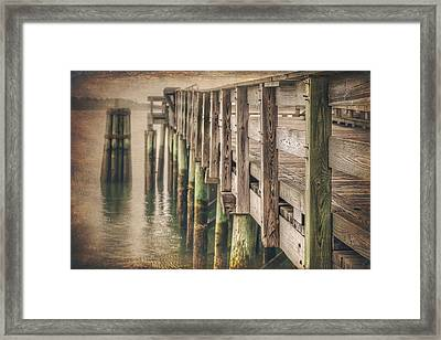 The Wooden Pier Framed Print