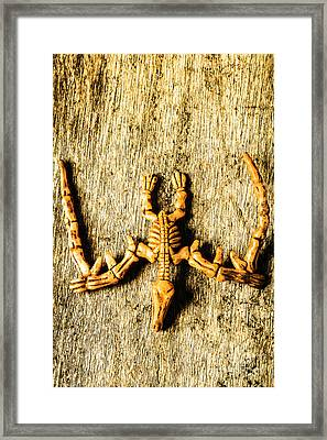 The Wooden Pterosaur Framed Print