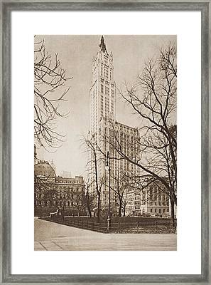 The Woolworth Building, New York. From Framed Print