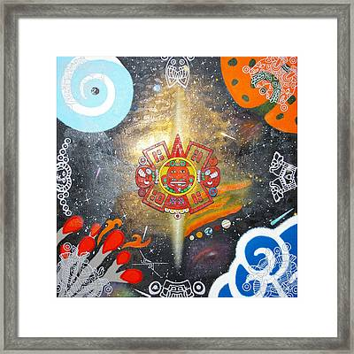 The Word Framed Print by Guadalupe Herrera