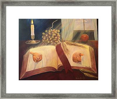 The Word Made Flesh Framed Print by Renee Dumont  Museum Quality Oil Paintings  Dumont